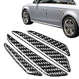 Raiphy 4 Stück Auto-Tür-Kantenschutz Anti-Rub-Streifen Self-Adhesive Aufkleber-Schutz Anti-Kollisionsschutz (Kohlefaser)