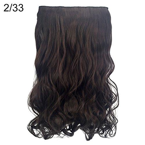 Homeofying naturale 5clip della fibra sintetica parrucchino riccio ondulato lungo scuro colore nero argento marrone biondo dorato viola clip in estensione dei capelli lunghi donne ricci parrucca