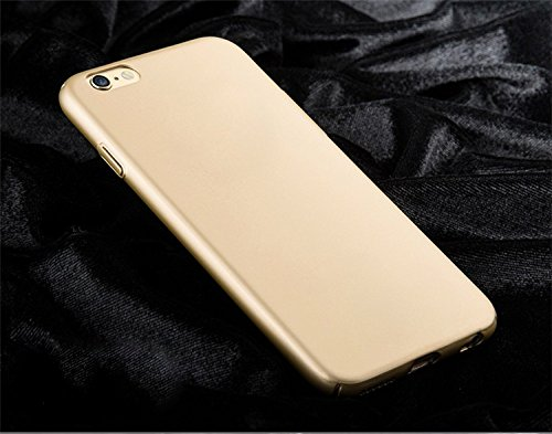"WOW Imagine(TM) All Sides Protection ""360 Degree"" Sleek Rubberised Matte Hard Case Back Cover For OPPO F1S – Champagne Gold"