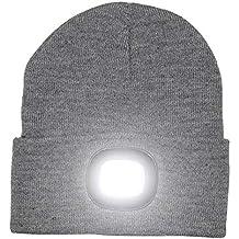 Gorra con luces LED brillantes recargables para la caza 24273dd651f