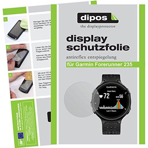 dipos I 6X Schutzfolie matt passend für Garmin Forerunner 235 Folie Bildschirmschutzfolie