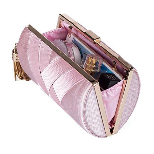 frauen abend tasche kupplung tasche elegante lappen braut tasche für die hochzeit abschlussball nacht party crossbody tasche umhängetasche pink