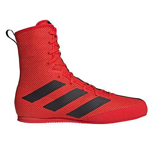 adidas Box Hog 3 - Scarpe da Boxe, Colore: Nero, Rosso (Red), 40 EU