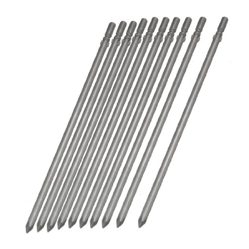 10 x Métal tige ronde 200 mm Longueur 6 mm pointe PH1 Phillips Embouts de tournevis