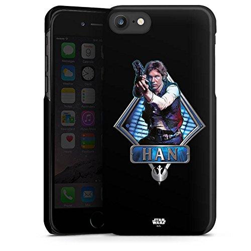 Apple iPhone X Silikon Hülle Case Schutzhülle Star Wars Han Solo Merchandise Hard Case schwarz