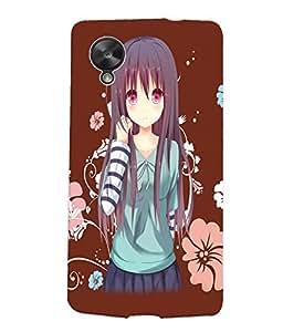 Fuson Flower Girl Back Case Cover for LG GOOGLE NEXUS 5 - D3772