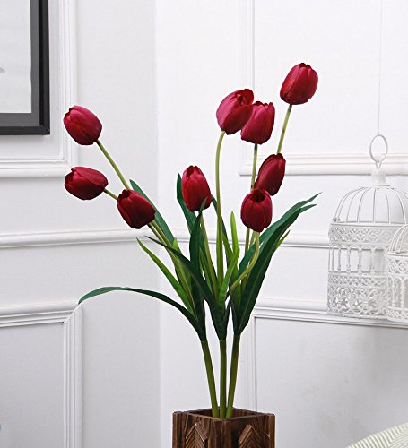 Fourwalls Artificial Decorative Polyester and Plastic Tulip Flower Stick (10 cm x...