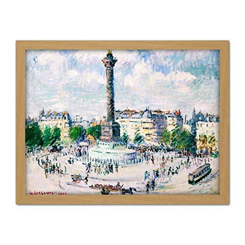 tille Paris France Painting Large Framed Art Print Poster Wall Decor 18x24 in Frankreich Malerei Wand Deko ()