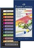 Faber-Castell 128312 Creative Studio Softpastellkreide, 12 Farben sortiert im Kartonetu