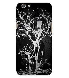 HiFi Designer Phone Back Case Cover Oppo F1s :: Oppo A59 :: Oppo F1s Selfie Expert ( Skull Tree Art )