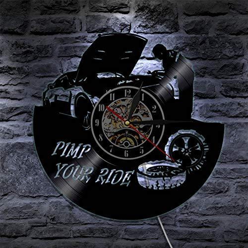 Garage Wanduhr Reparatur Werkzeug Schallplatte Wanduhr Auto Service Rad hängenden Tisch Dekoration Handwerker Geschenk (Autos Tischdekoration)