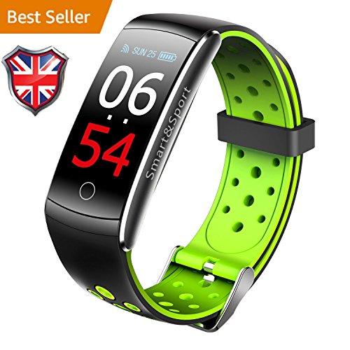 iSmart fitness tracker, 2018iSmart orologio pressione cardiofrequenzimetro, IP68impermeabile Activity Tracker braccialetto intelligente per iOS Android, Z11C–colore verde