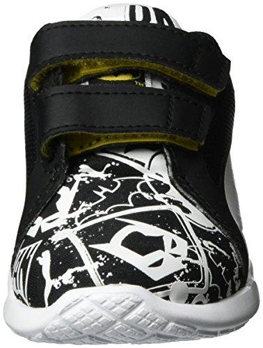 Puma Batman St Trainer Evo Street V Inf, Sneakers Basses Mixte Enfant Noir (Puma Black-puma White 01)