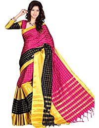 Sr Cotton Saree With Blouse Piece (Sr_Pink_Free Size)