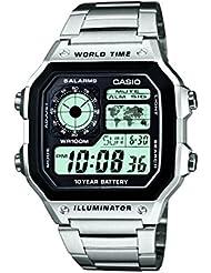 Casio Herren-Armbanduhr Digital Quarz Edelstahl AE-1200WHD-1AVEF