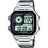 Casio Collection – Reloj Hombre Correa de Acero Inoxidable AE-1200WHD-1AVEF