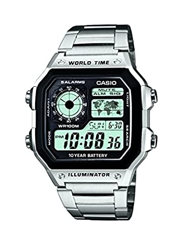 Casio Collection – Men's Digital Watch with Stainless Steel Bracelet – AE-1200WHD-1AVEF