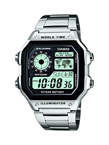 Casio Collection – Reloj Hombre Correa de Acero Inoxidable AE-1200WHD-1AVEF