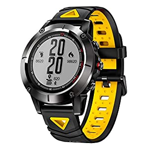 Moonuy G01 GPS Smart Watch Men IP68 Outdoor Sports Smartwatch for Men Waterproof Blood Pressure Bluetooth Wristwatch Sports Compass Fitness Monitor Tracker Smartwatch for Android iOS