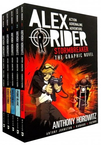 Alex Rider Graphic Novels Collection Anthony Horowitz 5 Books Set