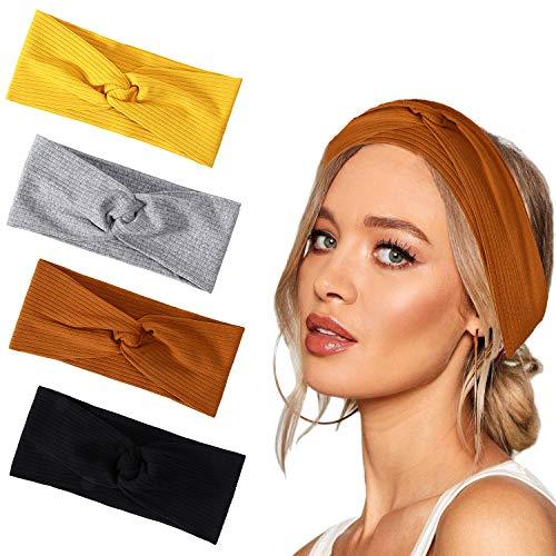 Joinfun fascia capelli donna delle donne elastiche Modern Style Vintage Turbante fasce ritorto bandana Knot fascia capelli Wraps Accessori per Capelli