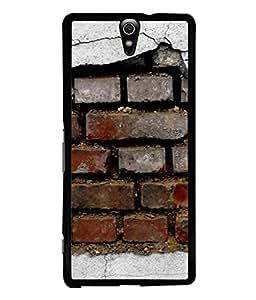 FUSON Designer Back Case Cover for Sony Xperia C5 Ultra Dual :: Sony Xperia C5 E5533 E5563 (Peeling Plaster Bricks White Cement Broken Small Big)