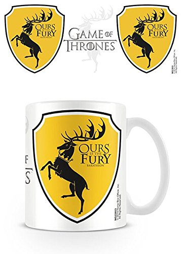 Lasgo Game Of Thrones Tazza Baratheon, Ceramica, Bianco, 15.6x12x10.2 cm