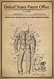 ComCard US Patente - Design for Flexible Space Suit- Entwurf für ein flexiblen Raumanzug - Vail 1971 - Design No 3.564.609 - schild aus blech, metal sign, tin