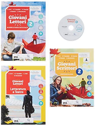 Giovani lettori-Giovani scrittori. Con Letteratura e teatro ed Easy eBook (su dvd). Per la Scuola media. Con ebook. Con espansione online. Con DVD-ROM: 2