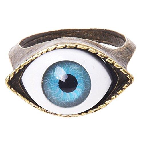 TOOGOO(R) anillo en forma del ojo de metal 17 mm diseno unico gotico