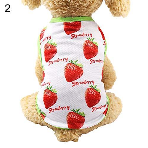 Kostüm Schnürung Ärmellos - dontdo Haustierkleid, Erdbeermuster, atmungsaktiv, mit Schnürung, ärmellos
