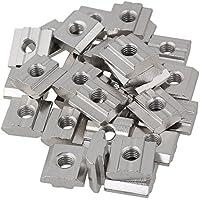 Tuercas corredizas T de acero al carbono plateado plateado Tuercas deslizantes M6 para el paquete de tragamonedas de extrusión de perfil de aluminio estándar europeo de la serie 30 de 30