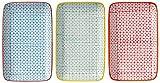 Bloomingville Servierplatten rechteckige Teller Carla 3er Set