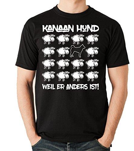 Siviwonder Unisex T-Shirt BLACK SHEEP - KANAAN HUND Israel - Hunde Fun Schaf Schwarz