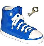 alles-meine.de GmbH 3-D Effekt _ Spardose -  Schuh Sneaker / Sportschuh - Schuh - Blau  - Incl. ..