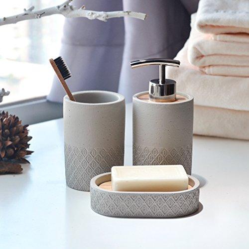 Set di accessori da bagno 3 pezzi dispenser per sapone - Accessori da bagno di lusso ...