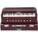 Maharaja zusammenklappbar Palisander Harmonium–9Stopper–Safri–3½ Oktave–mit Kupplung, kommt mit Buch & Tasche–dran zu A440(pdi-ahf)