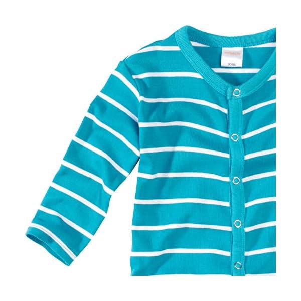 WELLYOU, Pijamas, Pijamas para niños y niñas, una Pieza de Manga Larga, niños pequeños, Color Azul Turquesa con Rayas… 2