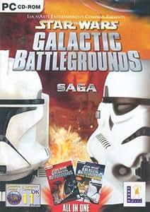 Star Wars: Galactic Battlegrounds Saga - Galactic Battlegrounds and Clone Wars (PC CD)