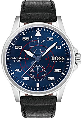 Hugo Boss Black Aviator horloge HB1513515