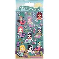 Paper Projects 01.70.19.008 Mermaid World Kidscraft Puffy Sticker Pack
