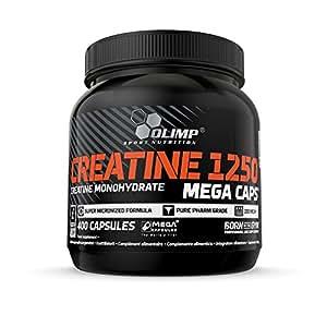 Olimp Creatine 1250 Mega Caps | 400 Kapseln | Kreatin-Monohydrat | Fitnessstudio, Radsport, Laufen | Regeneration