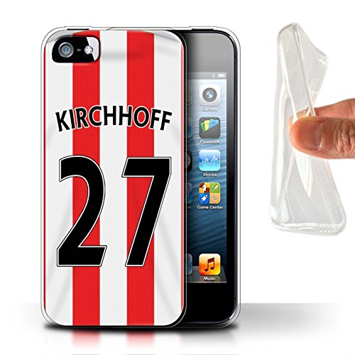 Offiziell Sunderland AFC Hülle / Gel TPU Case für Apple iPhone SE / Kaboul Muster / SAFC Trikot Home 15/16 Kollektion Kirchhoff