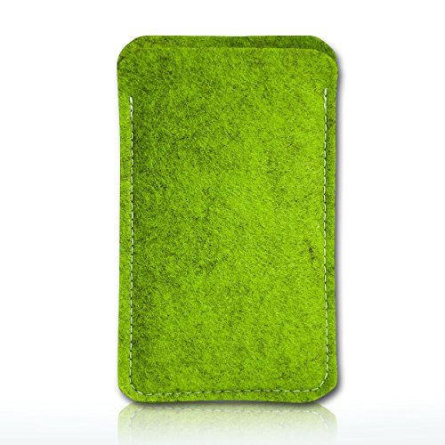 Filz Style Apple Iphone 5 / 5S / 5C Premium Filz Handy Tasche Hülle Etui passgenau für Apple Iphone 5 / 5S / 5C - Farbe dunkelblau grün-schwarz
