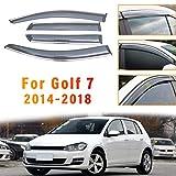 ALLYARD per VW Golf 7 2014-2018 Visiera Finestra d'Aria Deflettori Acrilico Parapioggia Deflettore Parasole Laterale Visor Sfogo paraspruzzi 4Pezzi
