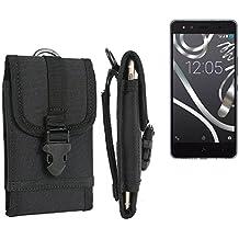bolsa del cinturón / funda para BQ Aquaris X5 Cyanogen, negro | caja del teléfono cubierta protectora bolso - K-S-Trade (TM)
