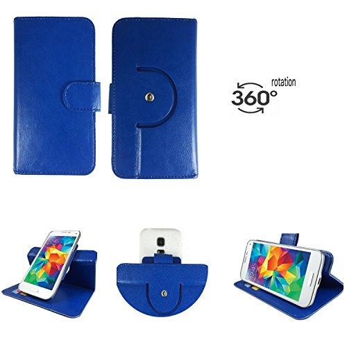 Handy Schutz Hülle | für simvalley MOBILE SPX-34| 360° Drehbare Funcktion | PU Leder | 360° Nano S Blau