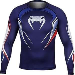 Venum French Hero T-Shirt de compression Homme Bleu/Blanc/Rouge FR : M (Taille Fabricant : M)