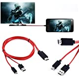 SCORIA® HDTV Micro USB Cable Micro USB To 1080P HDMI HDTV Cable Adapter For All V8 MHL/HDMI Compatible For Lenovo K8 Plus