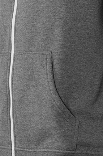 Solid Herren Hoodie Kapuzenpullover KJELT / Sweatshirt-Jacke / Herren Hoddie / Kapuzenjacke / langarm Grau